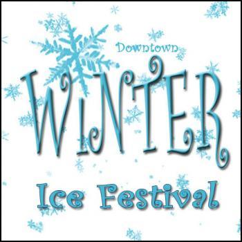 Downtown Winter Ice Festival in Sault Ste. Marie Michigan