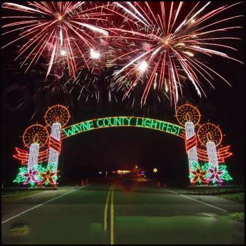 Wayne County Lightfest at Hines Park in Westland